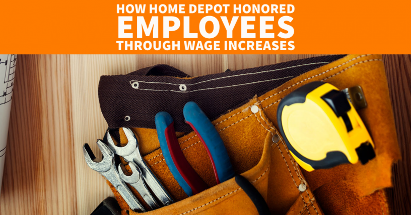 home depot wage increase